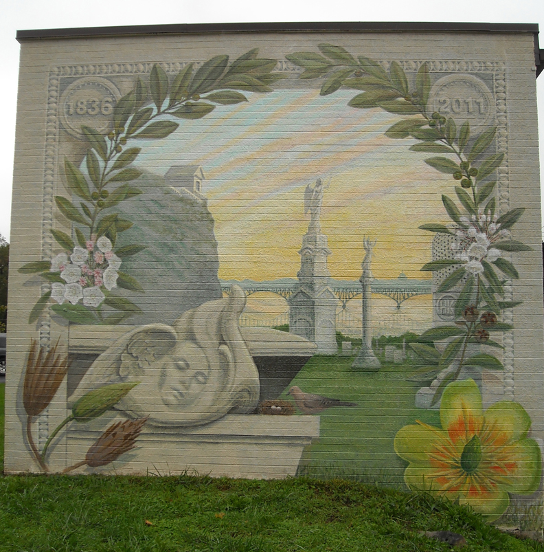 """""""Peace Like a River"""" mural at Laurel Hill Cemetery Philadelphia, PA"""