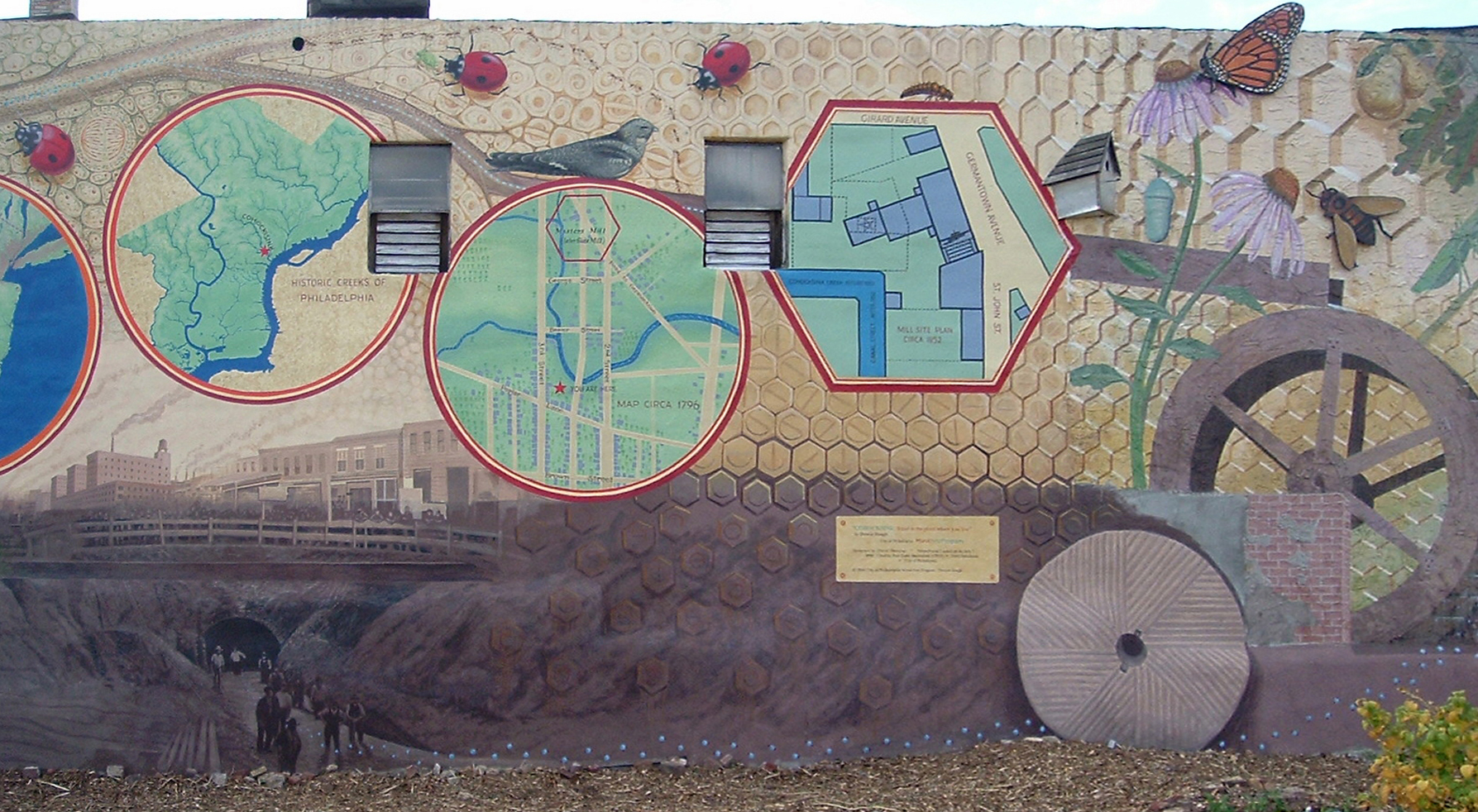 """Cohocksink"" mural done with the Mural Arts Program City of Philadelphia 3rd Street above Poplar at Liberty Lands Park"