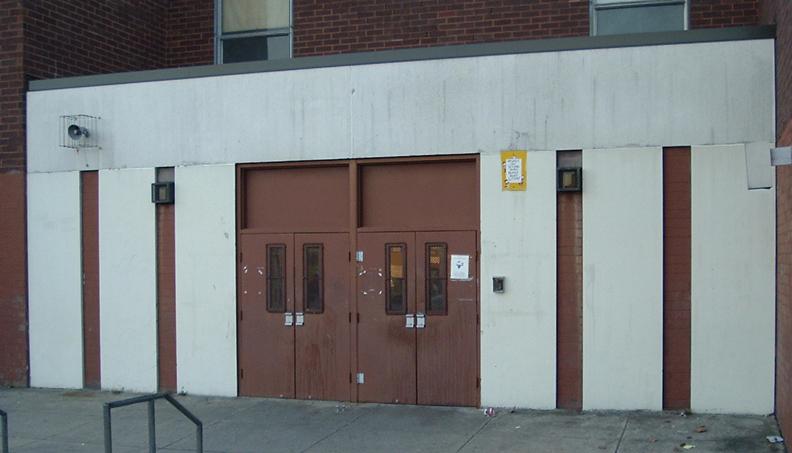 BEFORE Entrance Mural Daroff Public School, Philadelphia