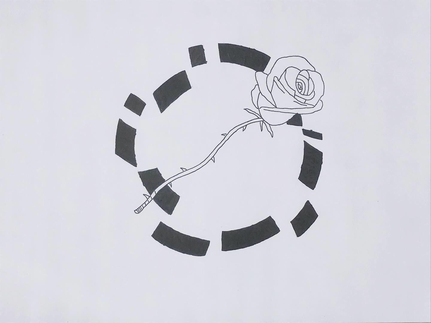 Image: Ruben Moskoviç  The blocks and lines express circle lines which have been broken by the rose which expresses love, caring, equality (especially gender equality).