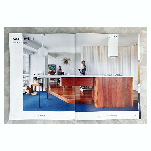 We are excited to be in the 2019 issue of Houses Kitchens + Bathrooms! This magazine is a great resource for designers and renovators alike and provides inspiration for stylish and efficient utility areas of modern homes.  Our Torbreck apartment is featured as an example of a 'retro revival' - how to incorporate all the modern wants in a mid-century building.  Pick up an issue to read more!  Thanks to @housesmagazine for the lovely feature, @wmcabinetmaker for making drawings come to life and our awesome clients@steph_coops + @mb_attyfor the opportunity to collaborate on a Jetson's inspired kitchen! Happy snaps by @christopherfrederickjones