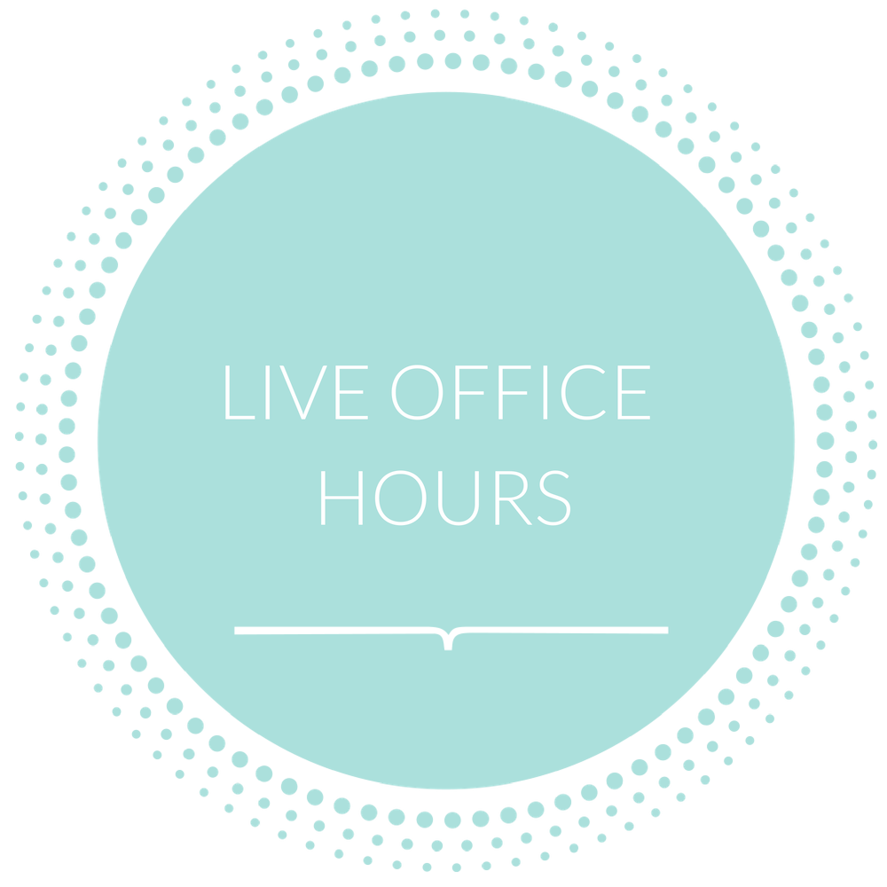 "***Live Office Hours   **Every Month ( A+ Parent Academy) on every Wednesday during the 3 weeks of the program (A + Admissions Mastery) we will have live ""Office Hours"" on our Facebook Private page with Paula Howell where she will provide guidance and tackle your fears, anxieties, and toughest questions."