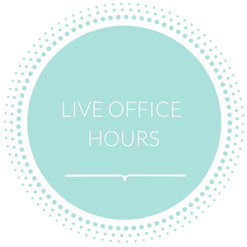 "During the two implementation weeks during the program, we will be live ""Office Hours"" on our FaceBook Private page with Paula Howell where she will provide guidance and tackle your fears, anxieties, and toughest questions while you work through the program."