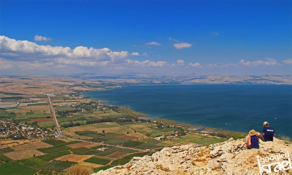Mt. Arbel gives us a beautiful view of the Galilee area