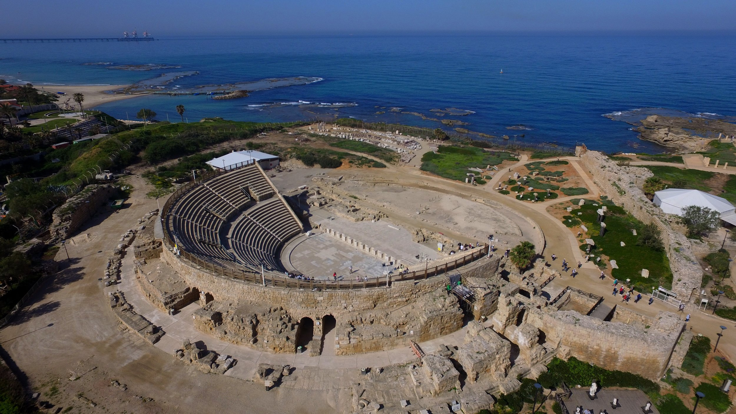 Caesarea Maritima is the last city in Israel that Paul was imprisoned before heading to Rome