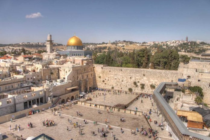 We experience prayer at the Wailing Wall as we see the largest visible portion of Harold's Temple wall