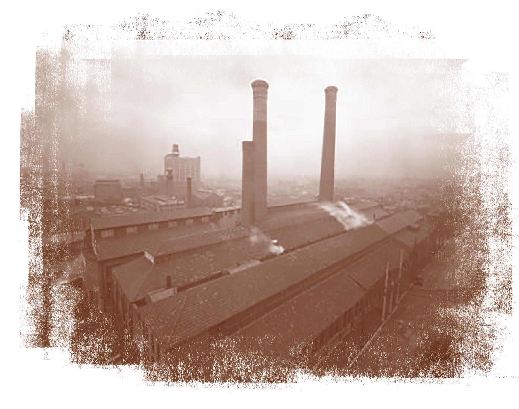 Brick foundries in the Smoketown neighborhood of Louisville in the 1930s