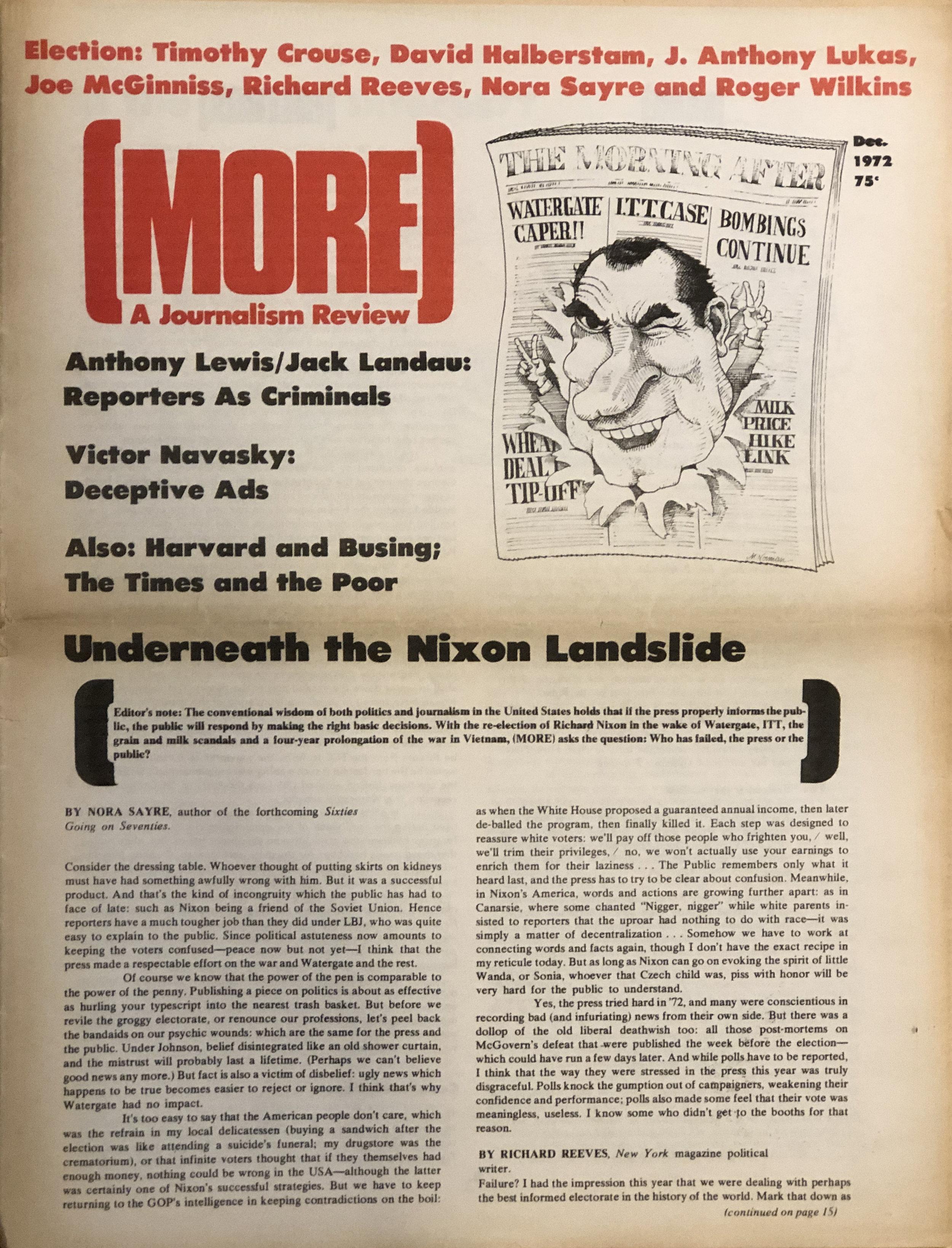 (MORE) , December 1972