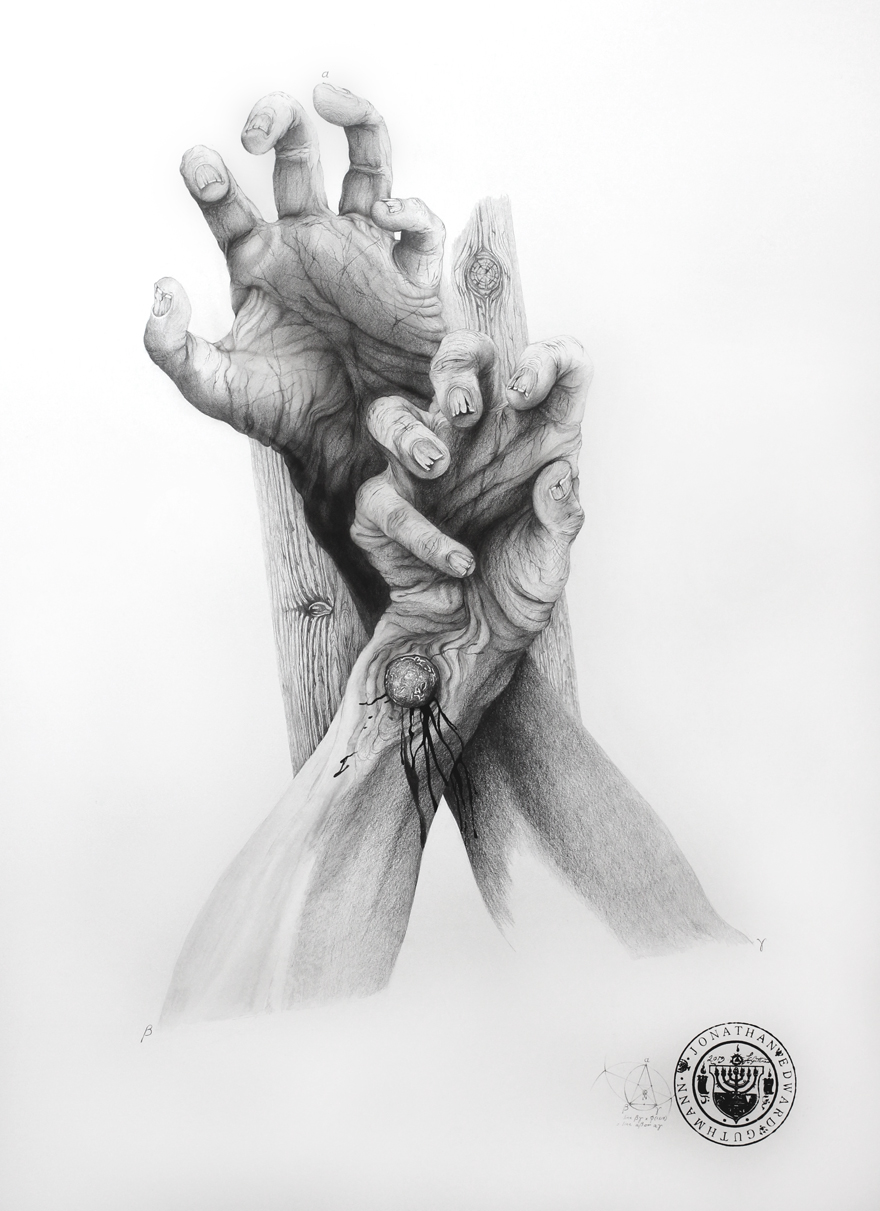 """""""CRUCIFIXION STUDY (CHRIST WITH HANDS CLENCHED)""""    GRAPHITE ON PAPER  ENQUIRIES THROUGH CONTACT PAGE"""