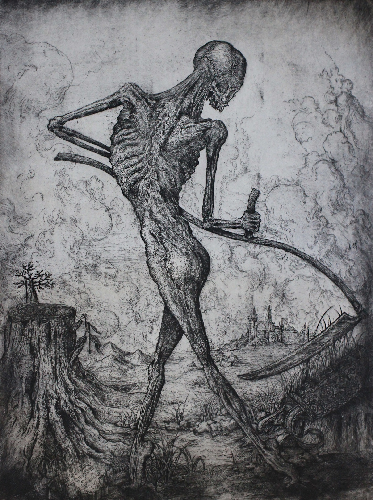 """""""totentanz I""""   etching on hahnemuhle  available in online shop"""