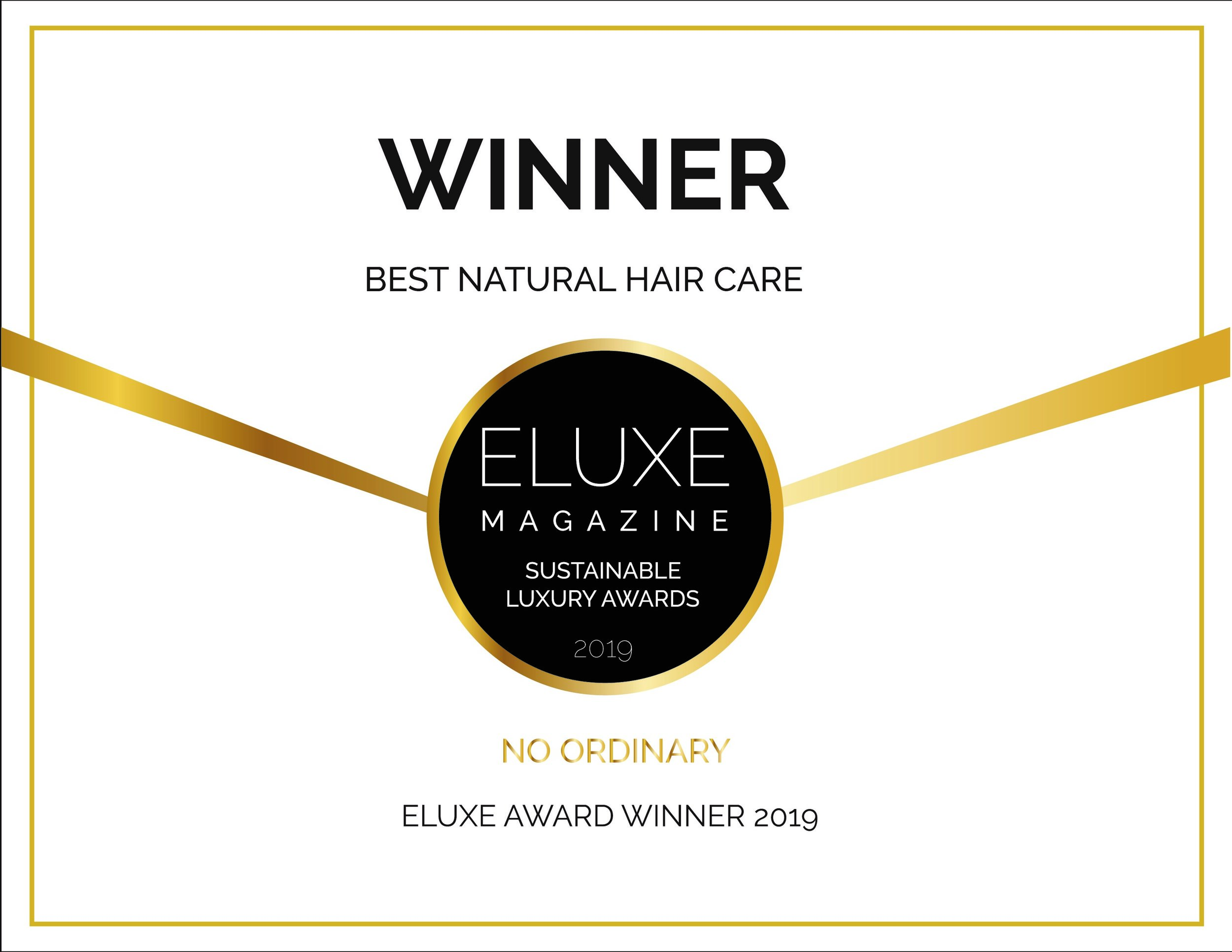 Winner Eluxe Best Natural Hair Care 2019