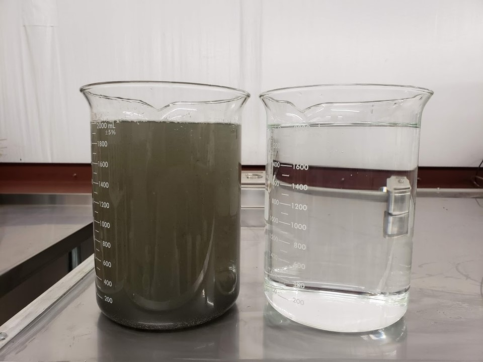 Before & After - Refinement process and finished water is environmentally responsible