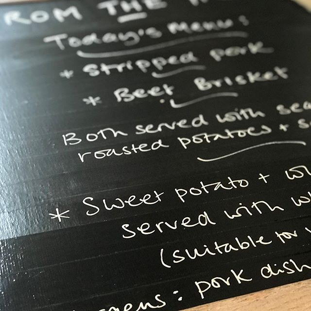 Writing up the menu boards for a 50th birthday party 🥂#shepherdshut #mobilecatering #wiltshire #dorset #wiltshirecaterer #salisbury #fromthehut #eventcatering