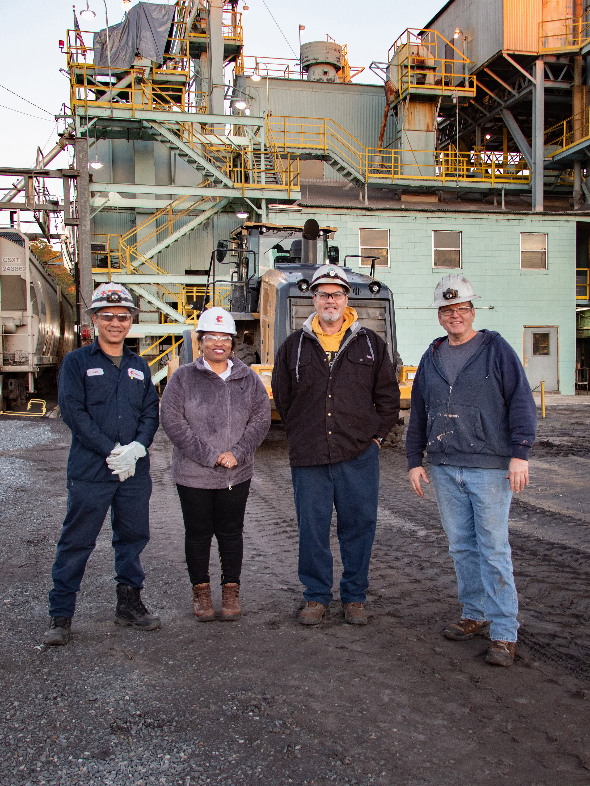 Environmental portraits - Sometimes your location is exactly what you need. We can also capture your team using your office, buildings, or environment as a background. We aren't afraid of a little dirt (or a lot of dirt). One a side note, seeing how Chemours runs their plants was fascinating! Much cleaner than I could have imagined. They don't even use chemicals. Did you know that Northeast Florida and part of Southern Georgia is where the minerals are found to make the world's jet turbines?