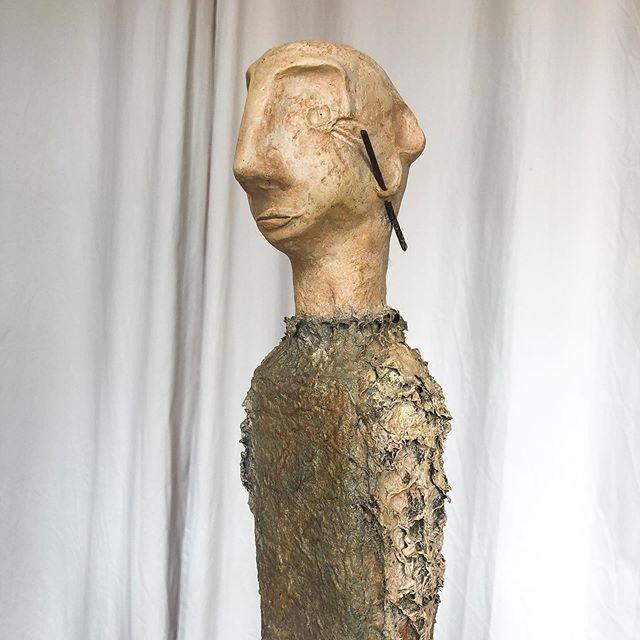 L'homme 🍃  #art #sculpture #atelier #materiaux #outils #inspiration #techniques #recyclage #stephaniepothier
