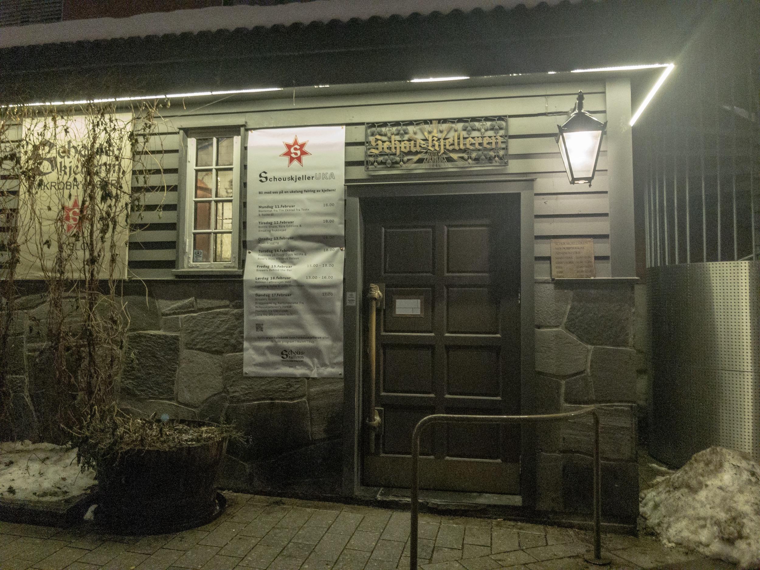 Schouskjelleren Mikrobryggeri Oslo Entrance.JPG
