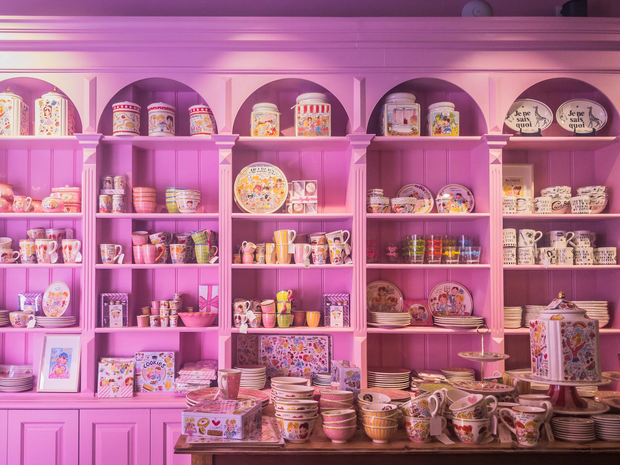 Blond Amsterdam Interior Shelving Display Pink.jpg