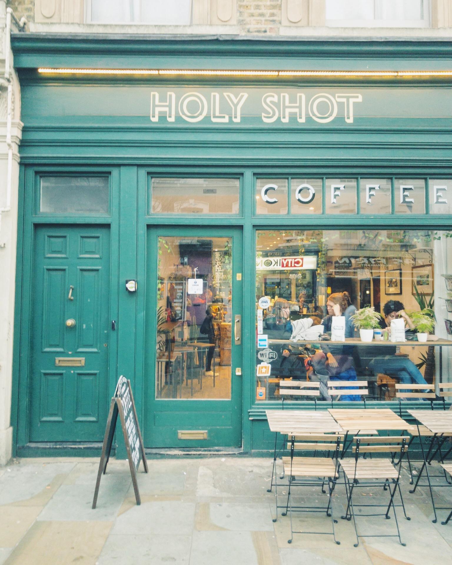 Best Coffee Shops in Shoreditch London Holy Shot.JPG