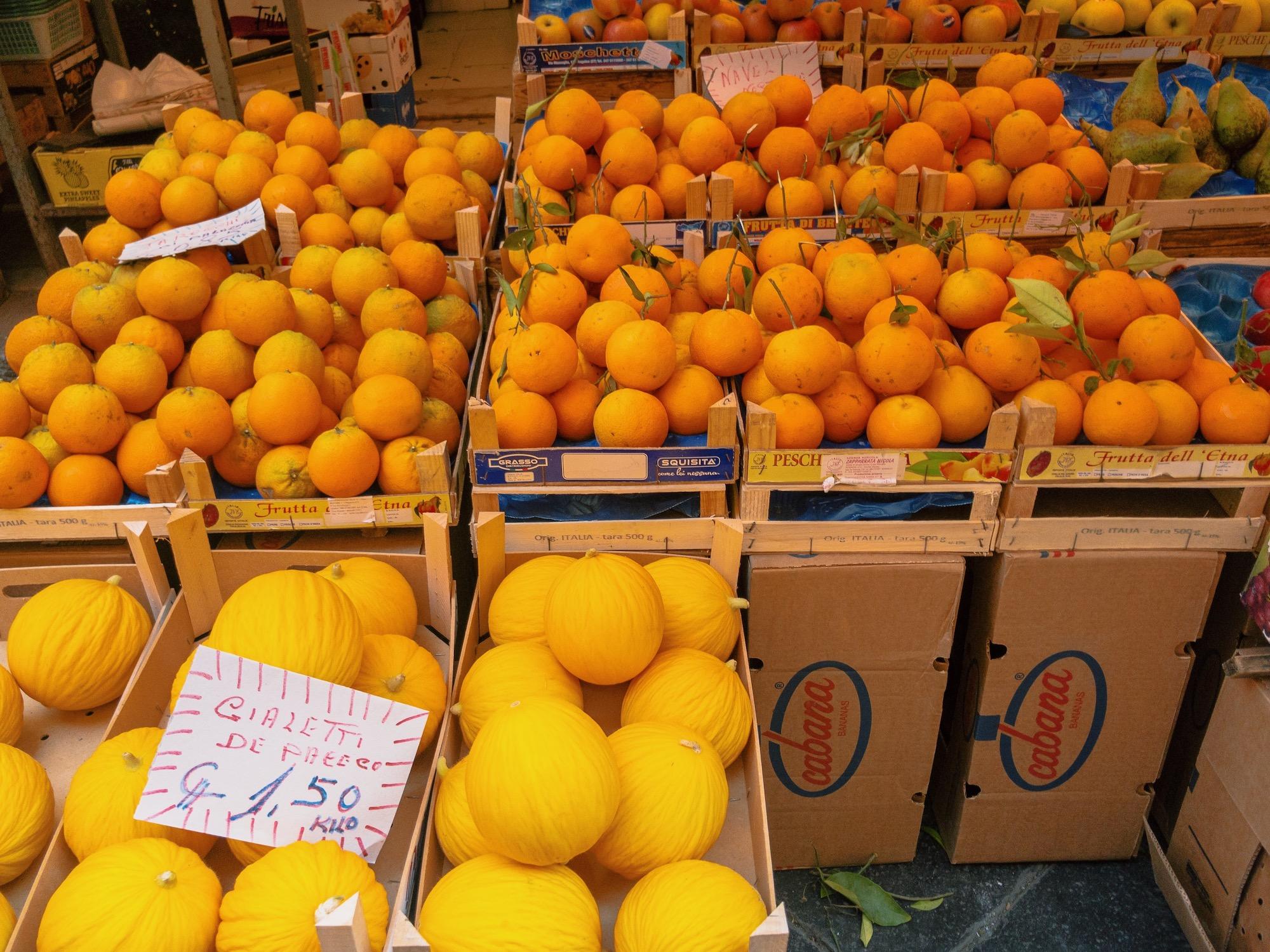 Catania Sicily Oranges Melon Market.JPG