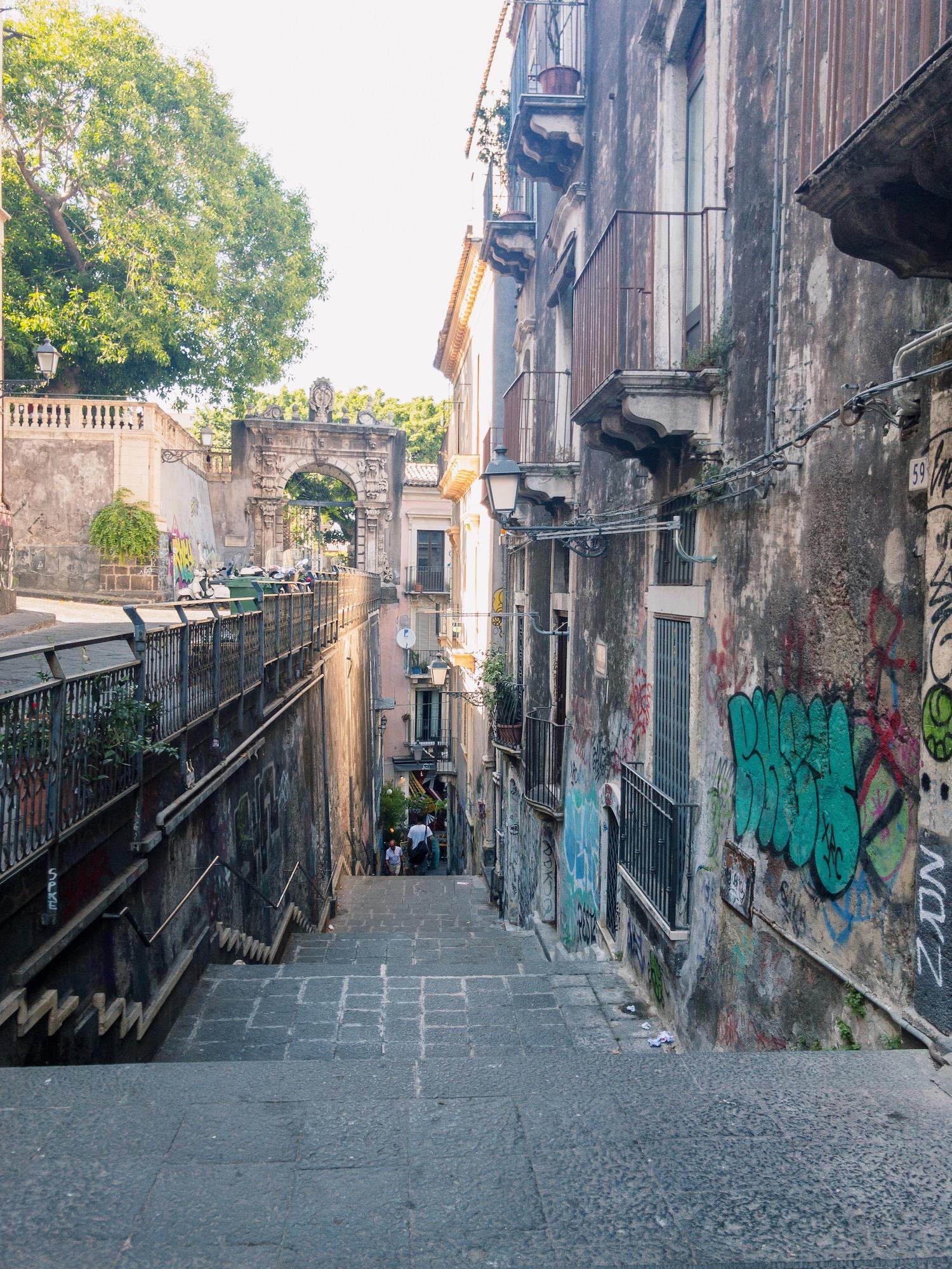 Catania Sicily Narrow Streets.JPG
