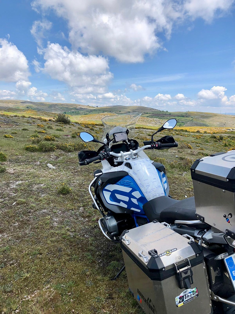 BMW R1200 1250 GS LC ADVENTURE RALLYE 2014 Onwards BMW World Stickers Long View Distance Landscape Blue Map Transparent Decals On White Ready To Ride