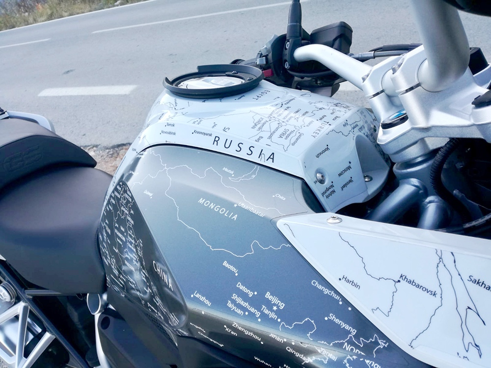 Copy of BMW R1200 1250 GS LC 2017 Onwards BMW World Stickers and Decals Right View Detail