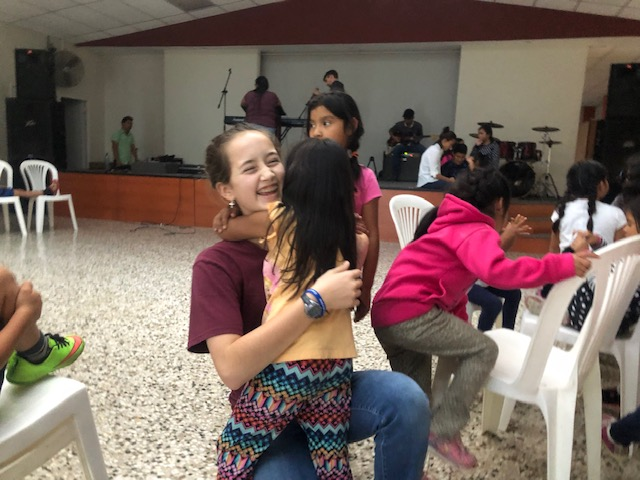Ellie being warmly greeted by friends the first day back to Casa Bernabe. They were so happy to see her visit again.