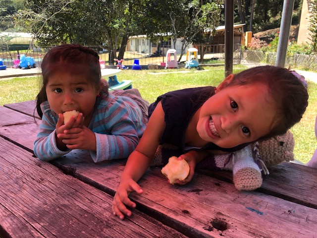 Two of the cuties from the Baby House where Ellie loves to serve.