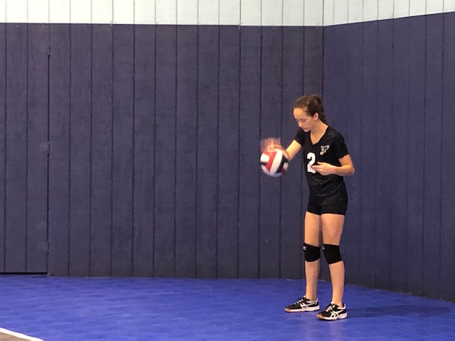 Not even 7 hours after landing at midnight from Guatemala, she was back to her other 'love' - volleyball