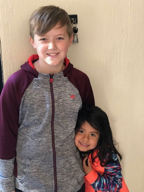 Ben with a sweet girl from Casa Bernabe who follows him around and absolutely adores him