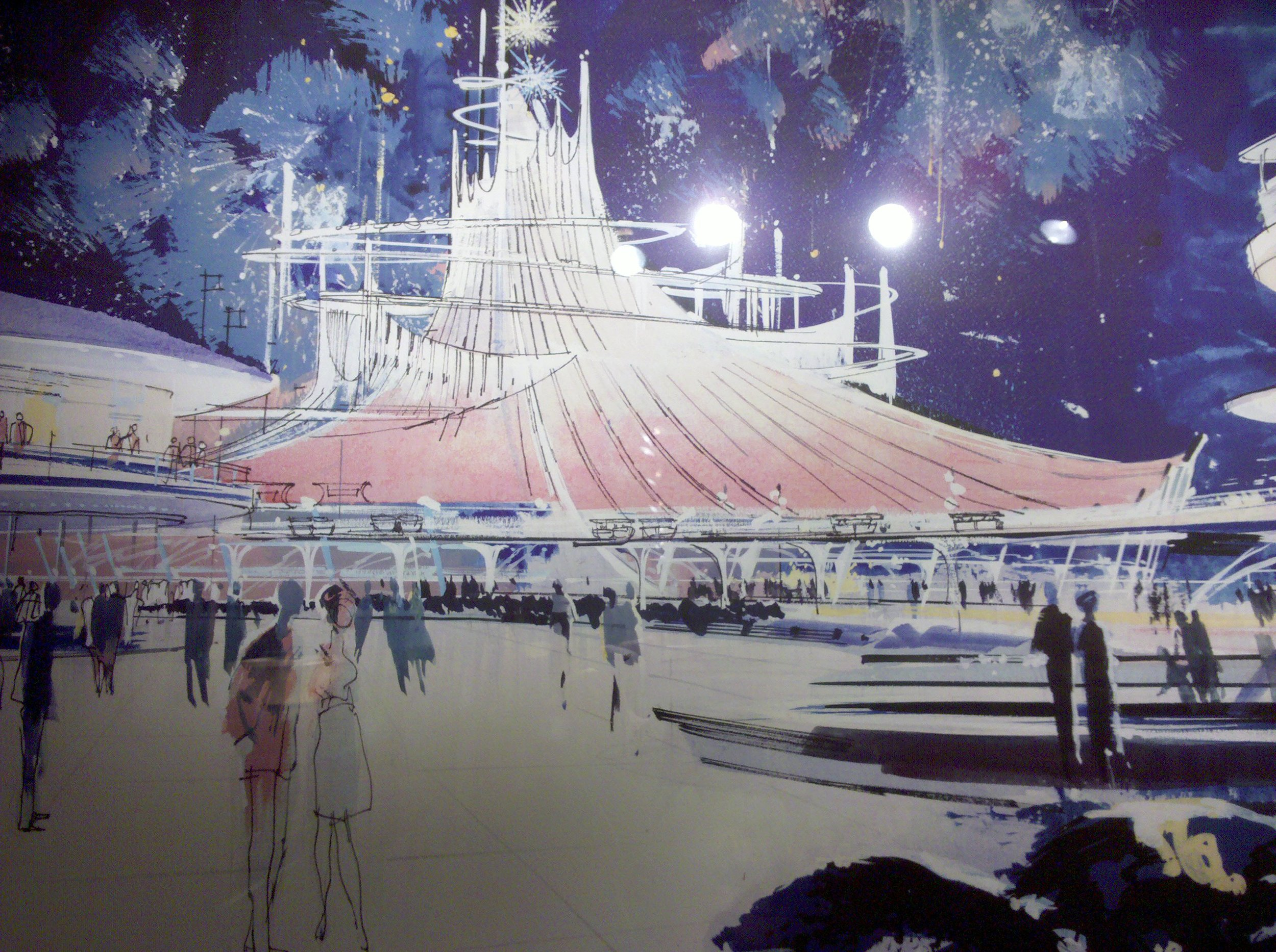 Original Concept Art for Space Mountain   Photo by  Kevin Simpson