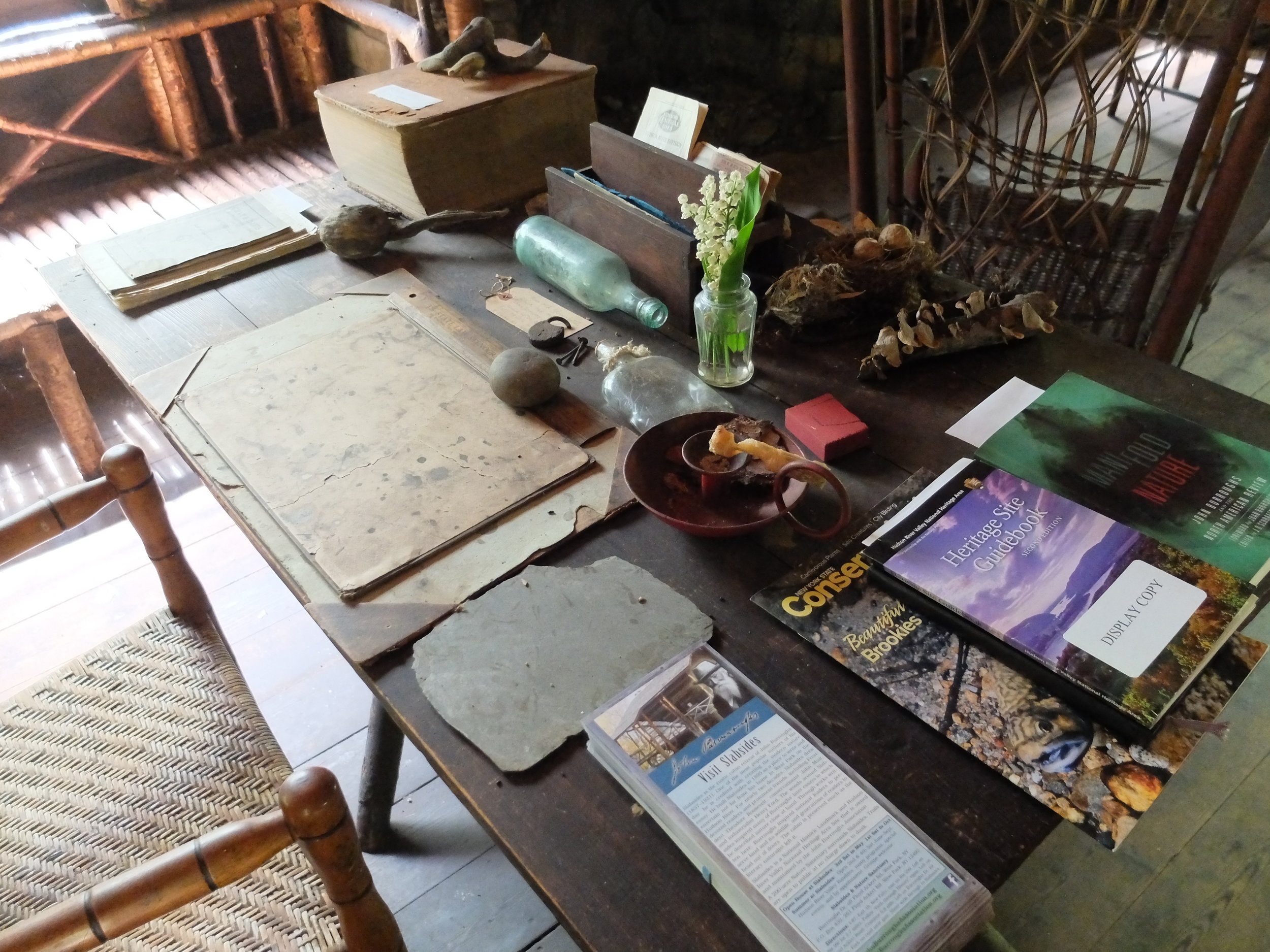 John Burroughs desk at slabsides