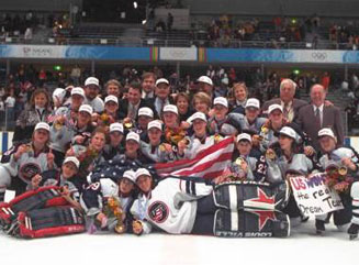 1998 U.S. OLYMPIC WOMEN'S ICE HOCKEY TEAM - The 1998 U.S. Olympic Women's Ice Hockey Team had a powerful impact on the growth of girls' and women's hockey in the United States thanks to the success it enjoyed at the 1998 Olympic Winter Games in Nagano, Japan.