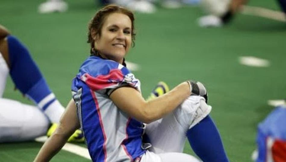 Welter is a veteran of several women's professional and semi-professional football teams (including the Dallas Diamonds and Dallas Dragons). She was a gold medal-winning member of Team USA at the IFAF Women's World Championship in 2010 and 2013. She played rugby in college.