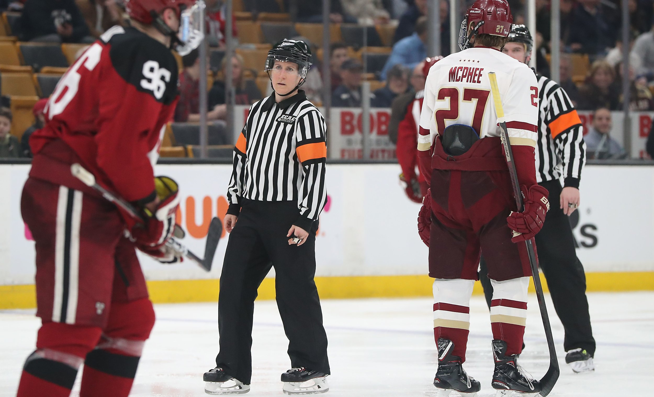 Katie Guay Makes History as First Female Official in Men's Beanpot History - https://www.usahockey.com/news_article/show/995614
