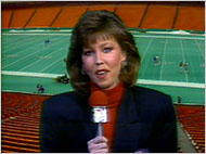 Gayle Sierens Calls 1987 NFL Game - Gayle Sierens became the first woman to do play-by-play for an NFL football game in 1987, when she called the December 27th game between the Seattle Seahawks and the Kansas City Chiefs.