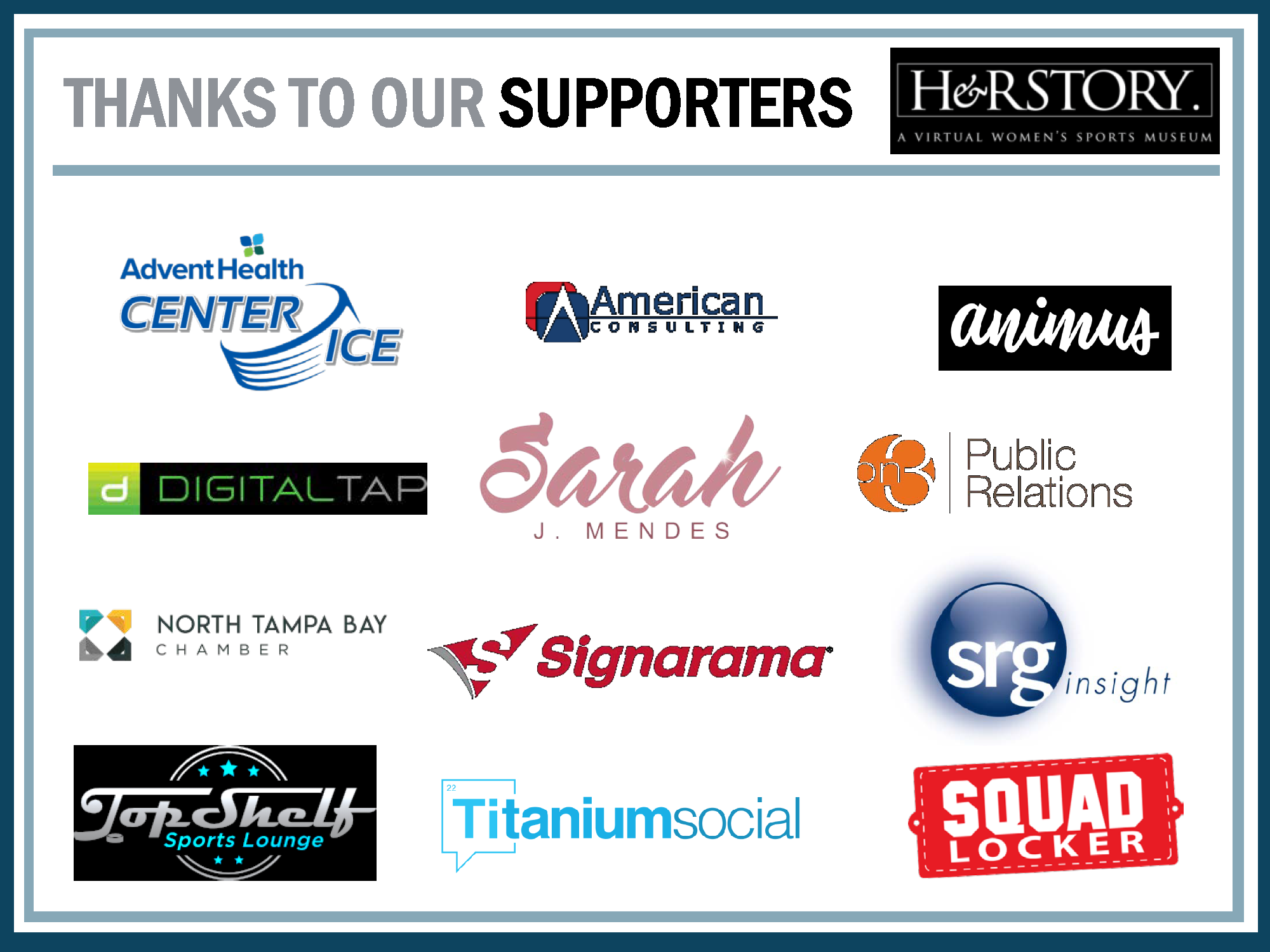 Thanks to many of our supporters!
