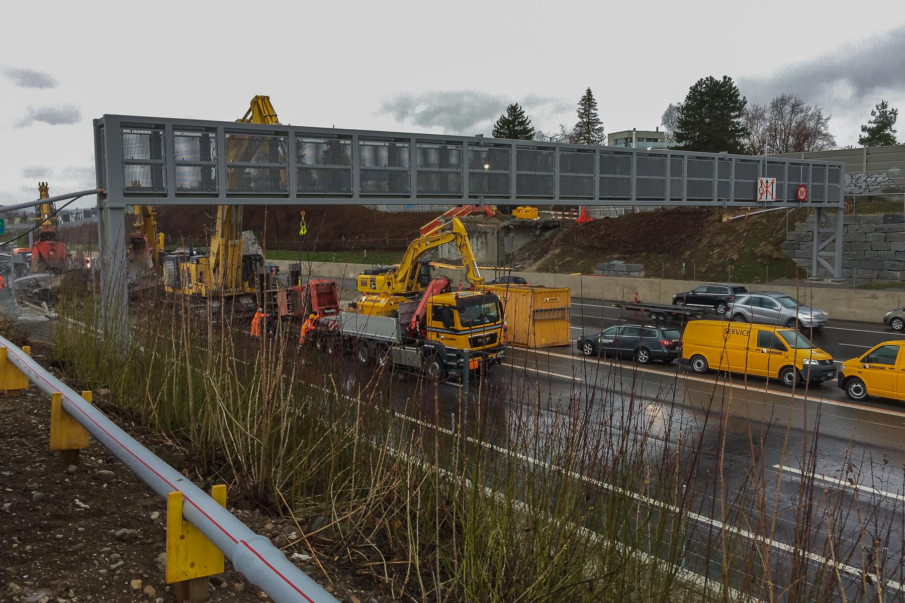 Rückbau Autobahnüberführung Brüttisellen-Wangen - Hans-Peter Breiter - www.zeitbilder.ch