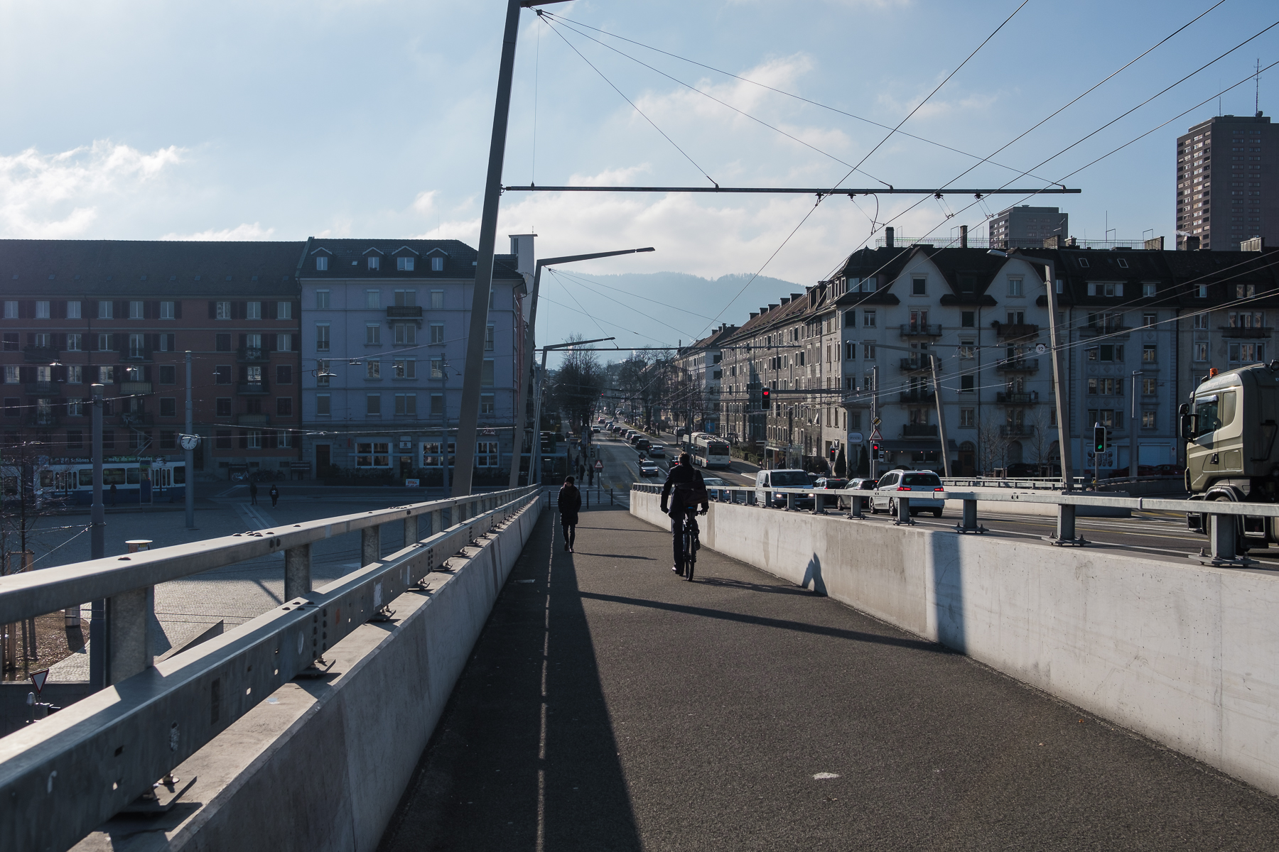 Zürich Hardplatz und Limmat - Hans-Peter Breiter - www.zeitbilder.ch