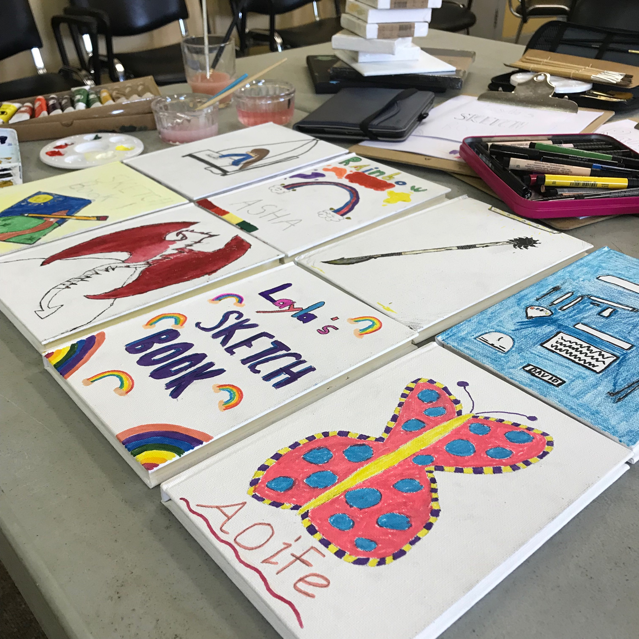 Summer Course Sketchbooks  - Personalised sketchbooks for recording our ideas and observations