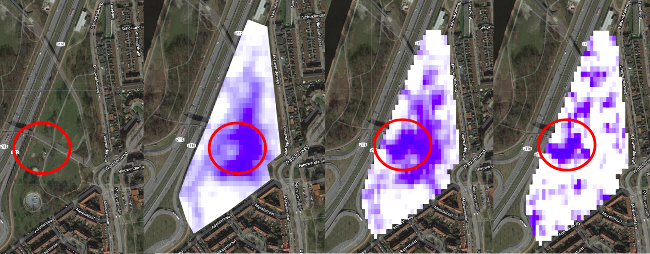 Synthetic Aperture Radar analysis of Amsterdam's Noorderpark during a flooding event.