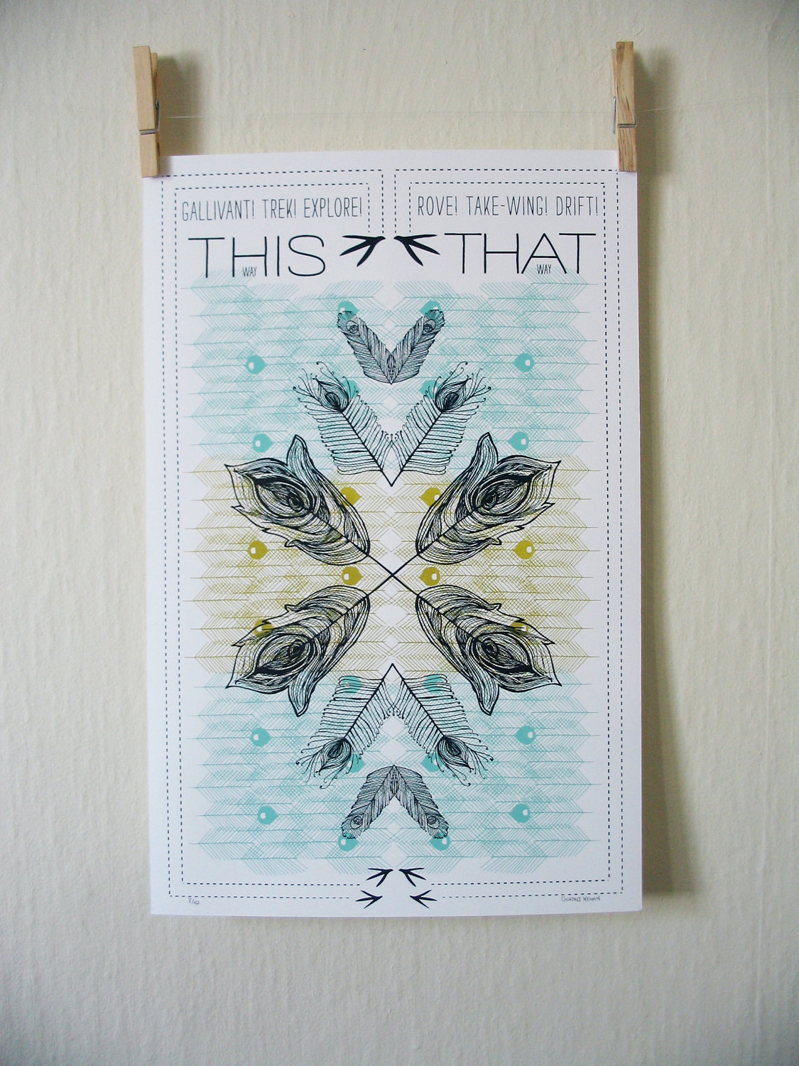 "11"" X 17""    80 LB Cover - Hand Screen Printed    $10.00"