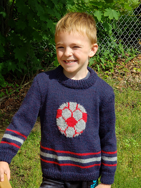 Kids need warm sweaters on cold days. My Nana really likes to make shawls and sometimes makes my Bepa model them, too. -