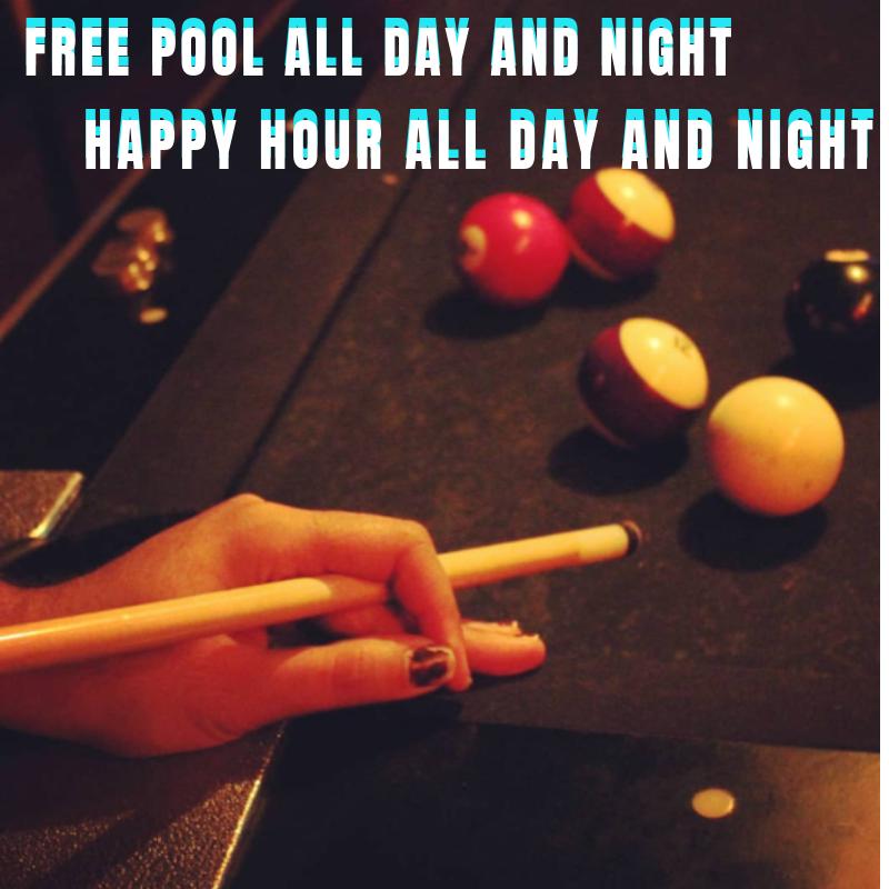 hand on pool table