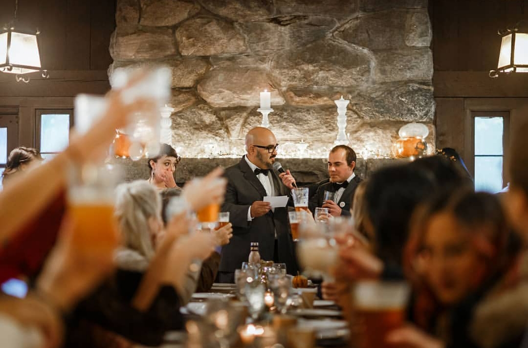 How to Write and Deliver the Best Wedding Toast - Photo by Arrae PhotographyWritten by Chasen ShawChasen is a certified Wedding Entertainment Director® and the owner of PartyBox. He and his wife Leslee Layton are the founders of Let's Revel.