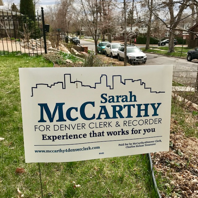 And let us know if you would like a yard sign…