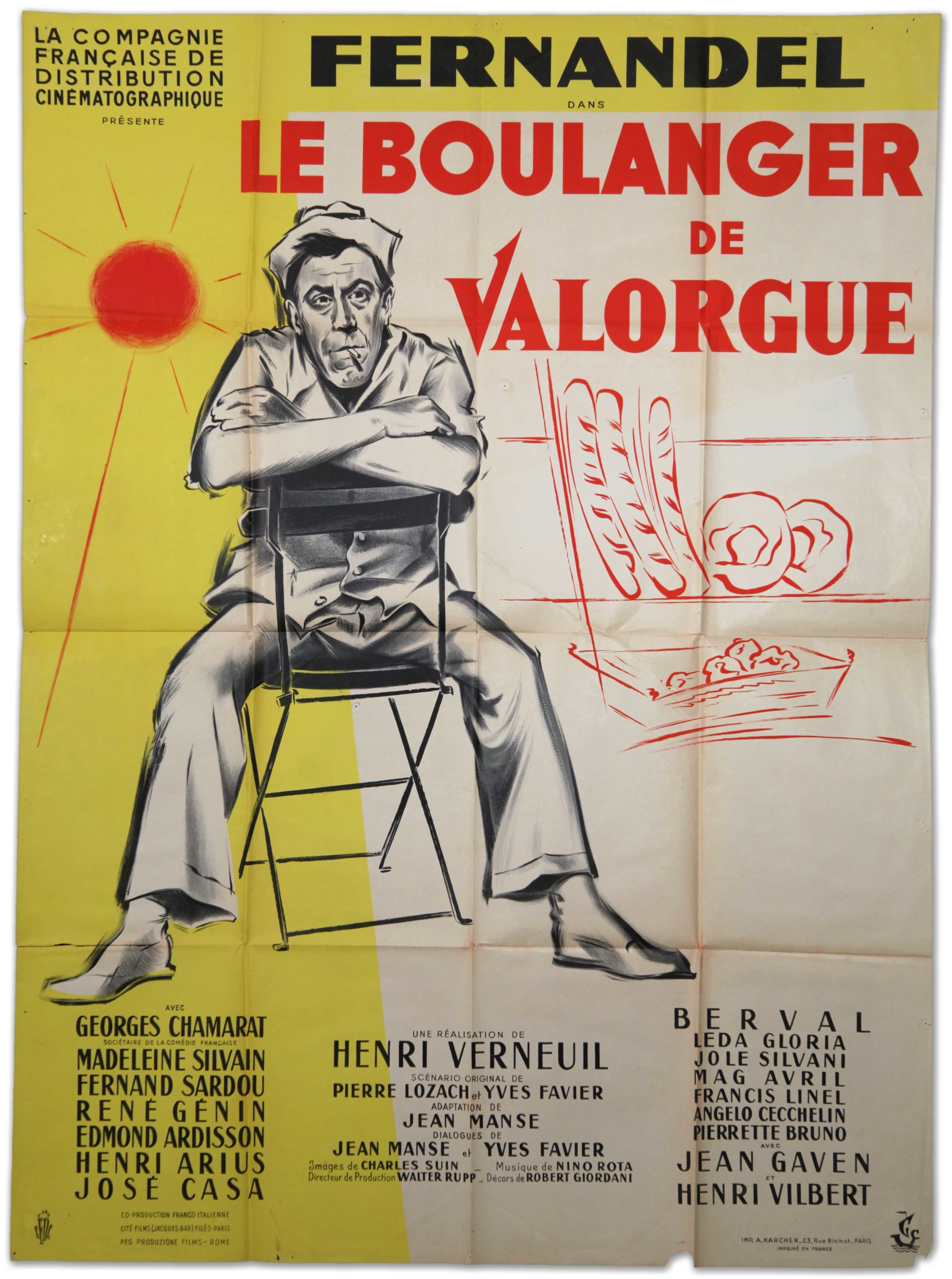 Fernadel in Le Boulanger De Valorue (1953)