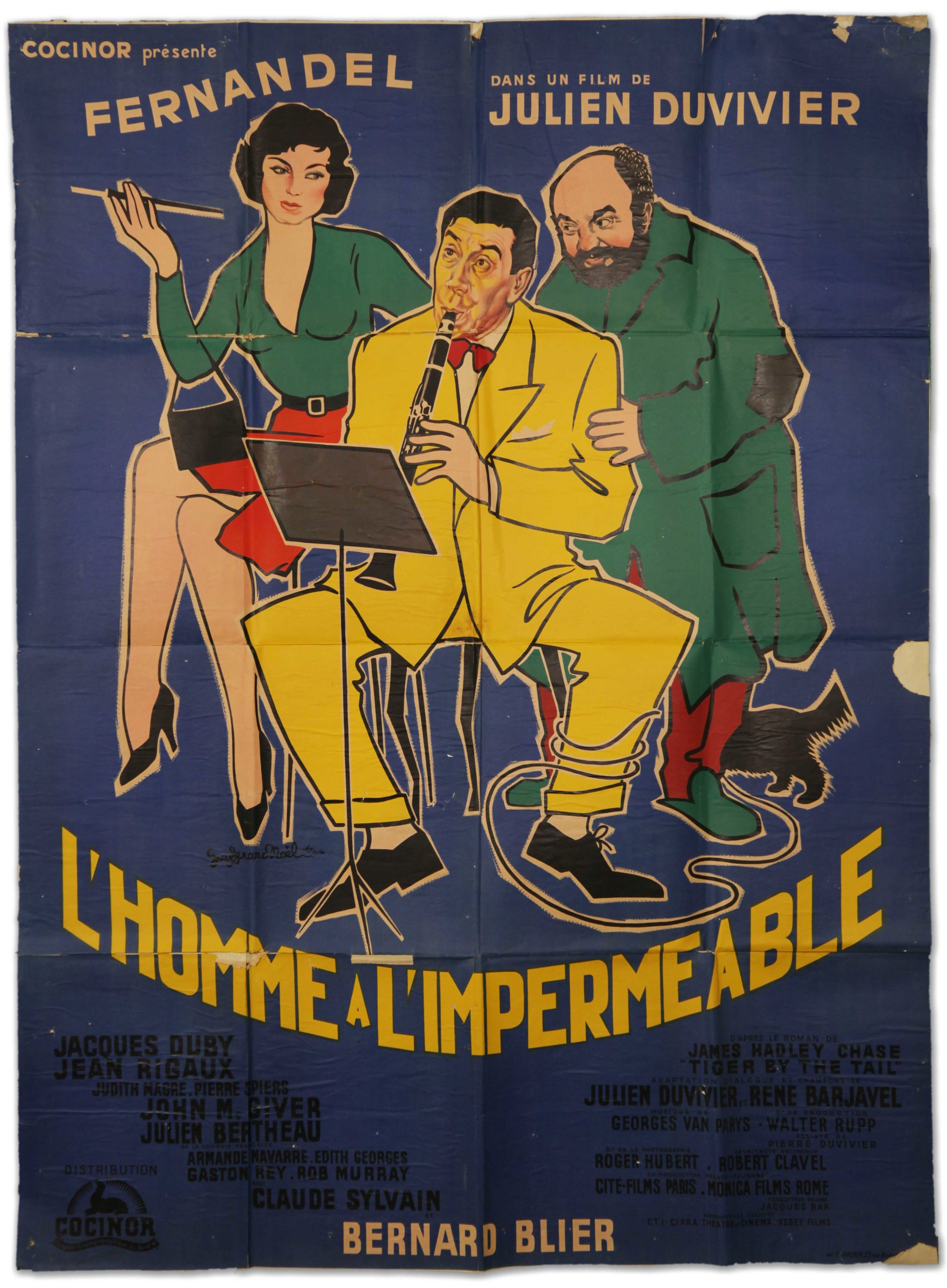 """Fernandel in """"L'Homme A L'Impermeable ( (1957)"""