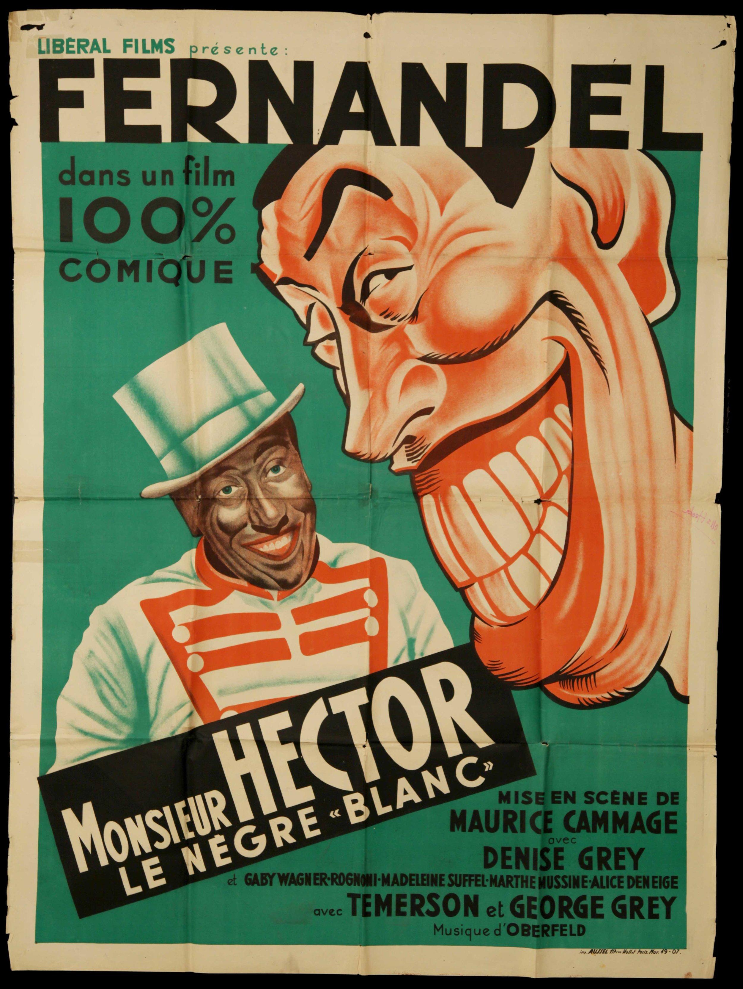 "Fernadel in ""Monsieur Hector Le Negre Blanc"" (1940)"