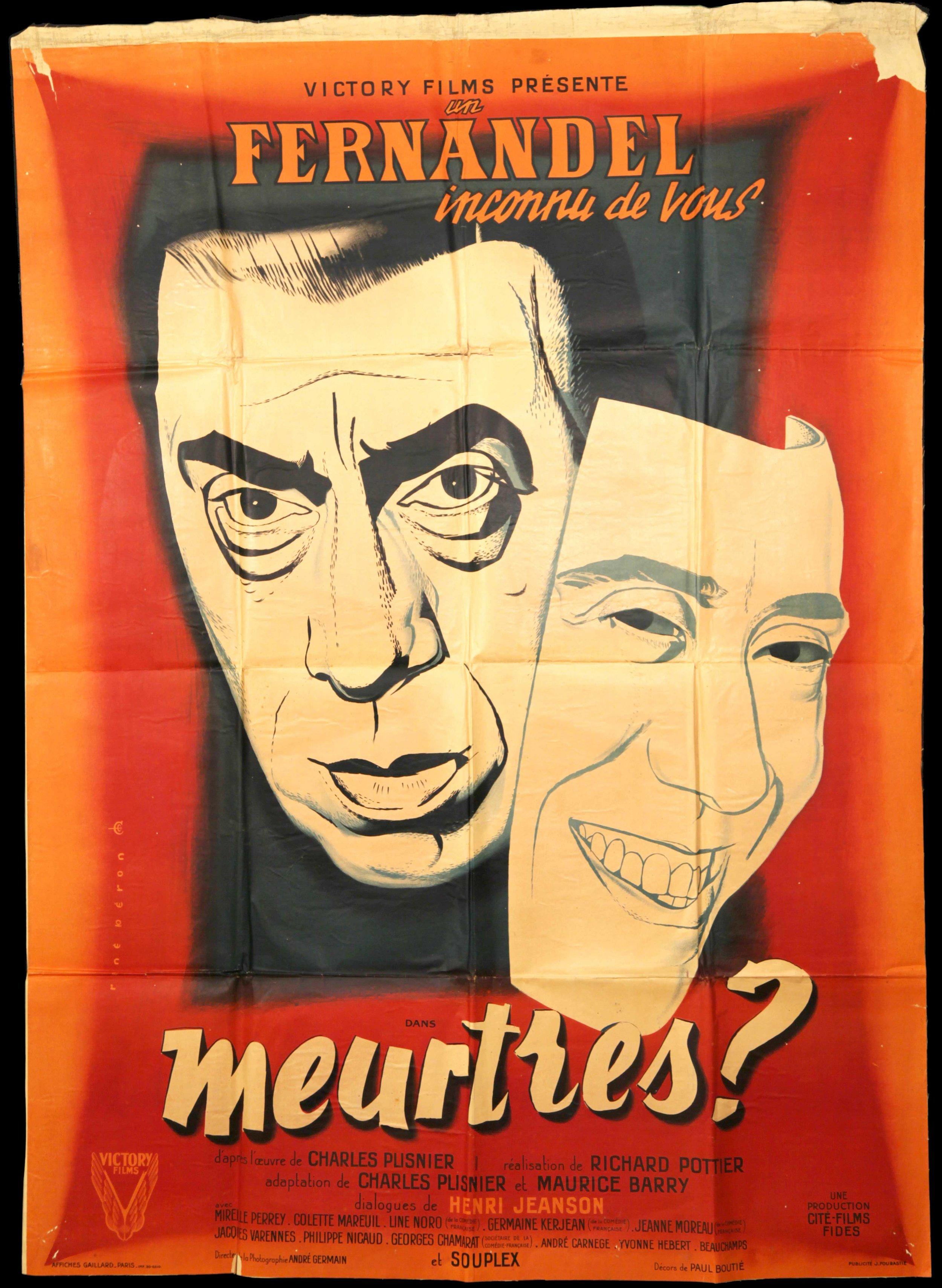 """Fernadel in """"Meurtres"""" (1950)"""